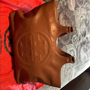Tory Burch Camel Leather Tote